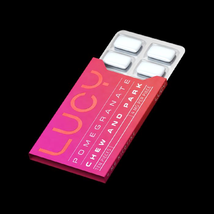 Lucy Pomegranate 4mg Nicotine Gum