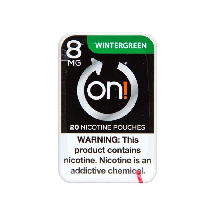 on! Wintergreen 8mg Dry White Mini