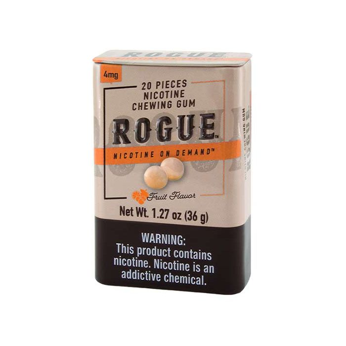 Rogue Fruit Flavor 4mg, Nicotine Chewing gum