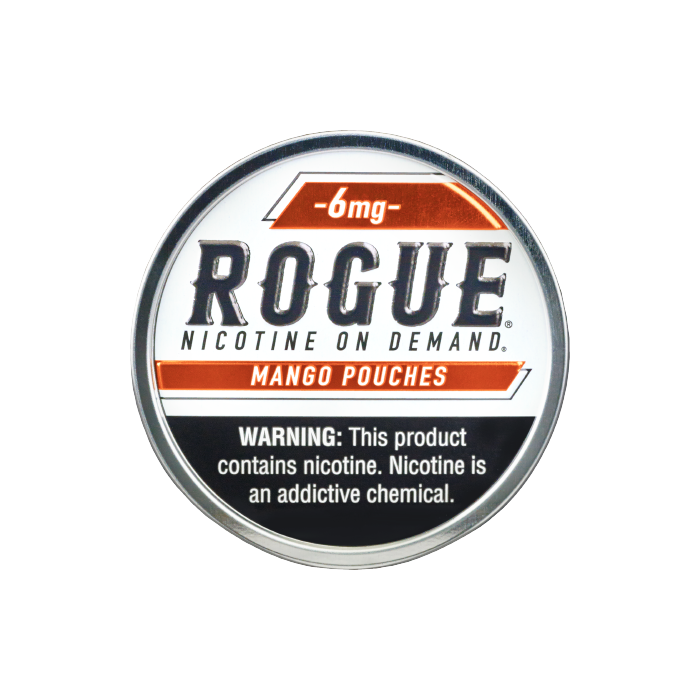 Rogue 6mg Mango Slim Dry Strong Nicotine Pouches