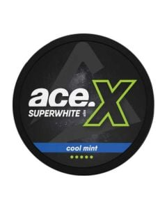 Ace Superwhite X Cool Mint Slim Extra Strong Nicotine Pouches