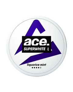 Ace Superwhite Liquorice Mint Slim All White