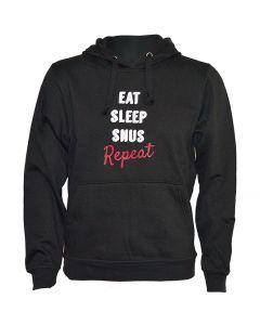 Eat Sleep Snus Repeat Black Hoody - Size: Large