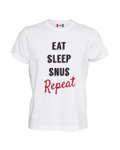 Eat Sleep Snus Repeat Xl White T Shirt