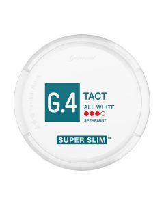 G.4 Slim Blue Mint All White Portion Snus