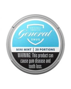 General Dry Mint Mini, White Portion Snus