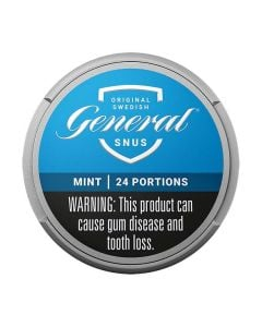 General Mint, White Portion Snus