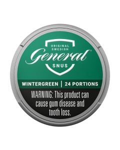 General Wintergreen, White Portion Snus
