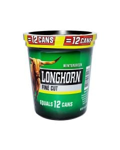 Longhorn Wintergreen Large Tub, 14.4oz, Fine Cut