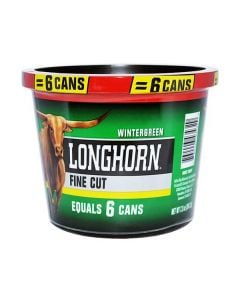Longhorn Wintergreen Small Tub, 7.2oz, Fine Cut