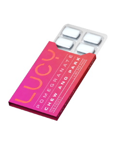 Lucy Pomegranate 4mg Nicotine Gum