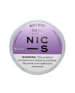 NIC-S Mixed Berry 6MG Nicotine Pouches
