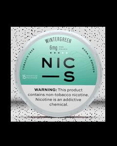 NIC-S Wintergreen 6MG Nicotine Pouches