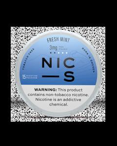 NIC-S Fresh Mint 3MG Nicotine Pouches