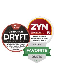 Zyn & Dryft Strong Cinnamon Duet, Nicotine Pouches