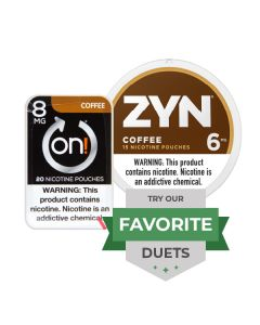 Zyn & On! Strong Coffee Duet, Nicotine Pouches