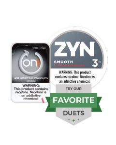 Zyn & On! Smooth Duet, Nicotine Pouches