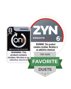 Zyn & On! Strong Smooth Duet, Nicotine Pouches