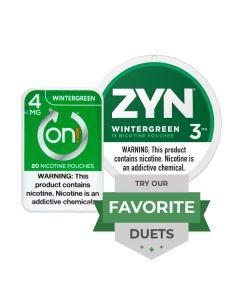 Zyn & On! Wintergreen Duet, Nicotine Pouches