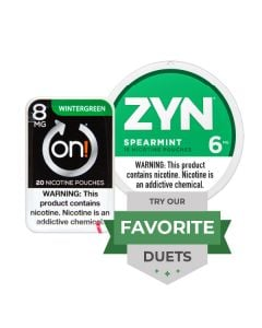Zyn & On! Strong Spearmint Duet, Nicotine Pouches