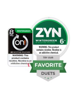 Zyn & On! Strong Wintergreen Duet, Nicotine Pouches
