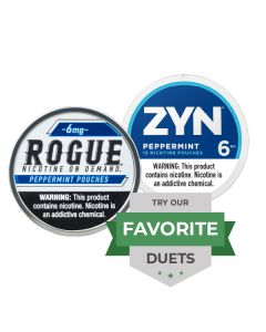 Zyn & Rogue Strong Peppermint Duet, Nicotine Pouches