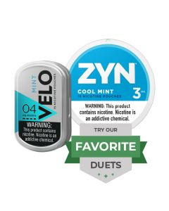 Zyn & Velo Cool Mint Duet, Nicotine Pouches