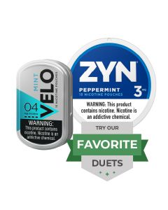 Zyn & Velo Peppermint Duet, Nicotine Pouches