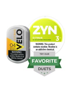 Zyn & Velo Strong Citrus Duet, Nicotine Pouches