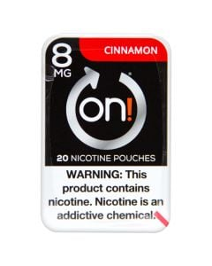 on! Cinnamon 8mg Dry White Mini