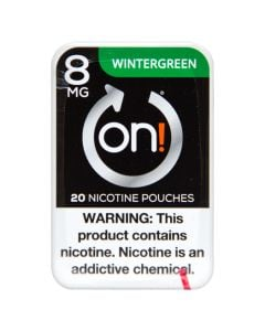 on! Wintergreen 8mg Dry White Mini