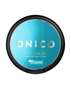 Onico Pepparmint mit Fluorid Portionssnus Weiß