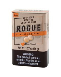 Rogue Fruit Flavor 2mg, Nicotine Chewing gum