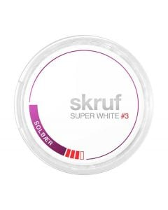 Skruf Super White Slim Blackcurrant #3 All White