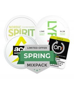 Spring Nicotine Pouches Mixpack, 4-pack