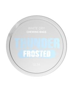 Thunder Slim Frosted White Dry Chew Bags