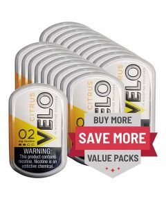 Velo 4mg Citrus, 20 can Value Pack