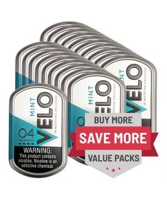 Velo 4mg Mint Slim Nicotine Pouches 20 Can Value Pack