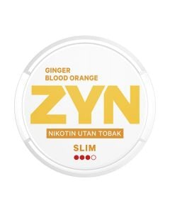 ZYN Ginger Blood Orange Slim All White Nicotine Pouches