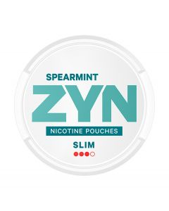 ZYN Spearmint Slim All White Nicotine Pouches