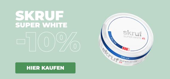 Skruf Super White Nicotine Pouches 10%