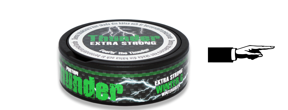 Thunder Wintergreen Portion Snus