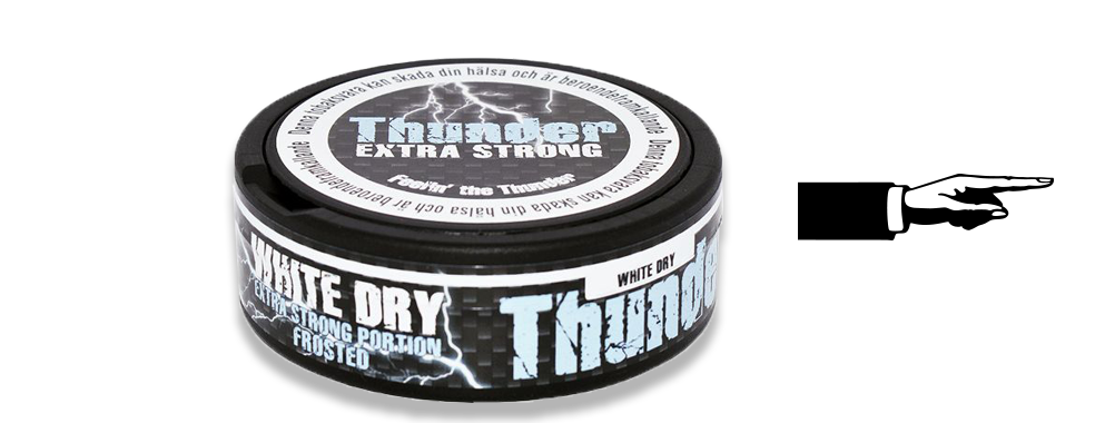 Thunder Frosted White Dry Portion Snus