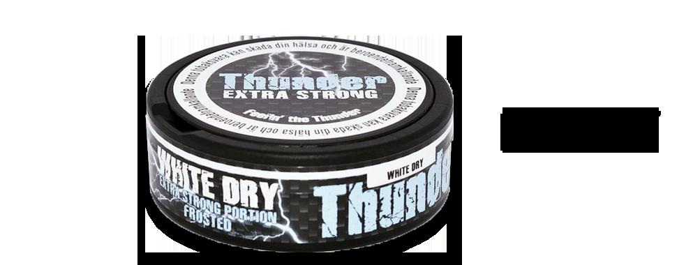 Thunder Frosted White Dry Portion Snus