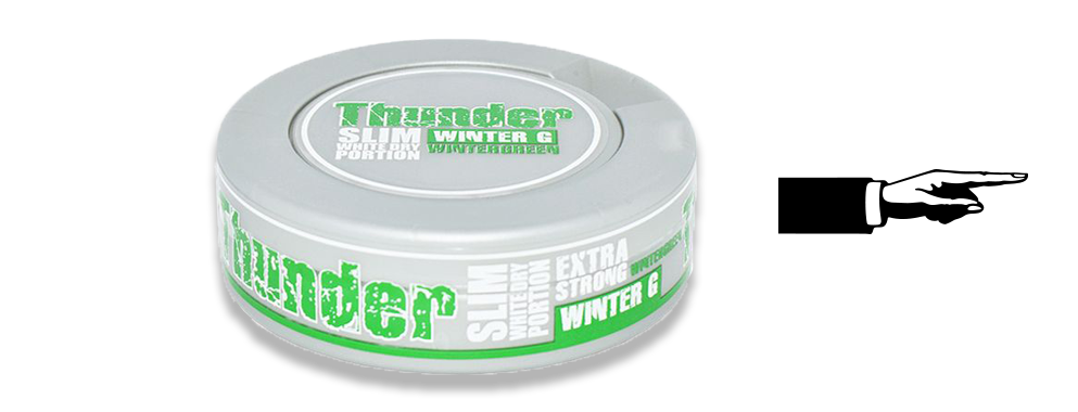 Thunder Winter G Slim Dry White Snus