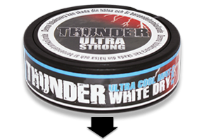 Thunder Ultra Cool Mint White Dry Snus