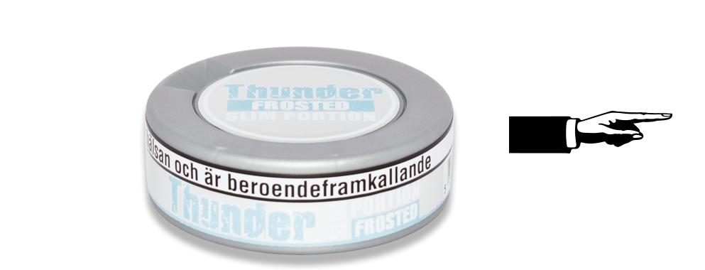 Thunder Slim Frosted White Dry Snus